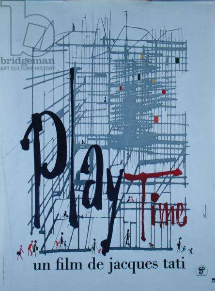 Poster for the film, 'Playtime' by Jacques Tati (1908-82) 1967 (colour litho)