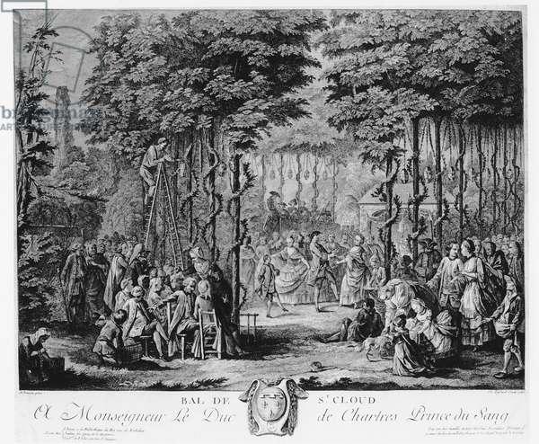Ball in the Parc de Saint-Cloud, 1760 (engraving)