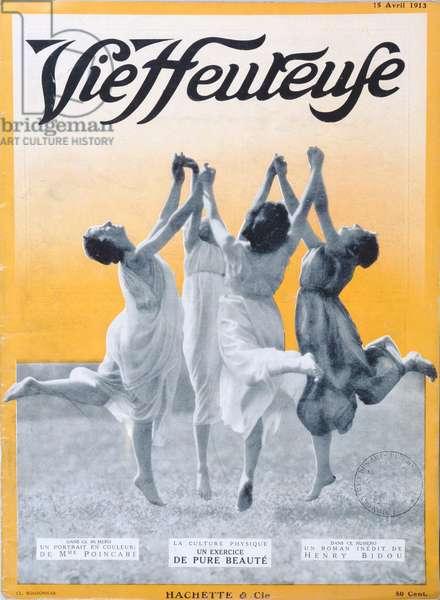 Pure Beauty exercise, cover illustration of 'Vie Heureuse', 15 April, 1913 (colour litho)