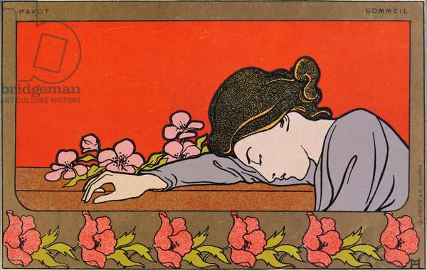 Postcard entitled 'Poppy Sleep', c.1900 (colour litho)