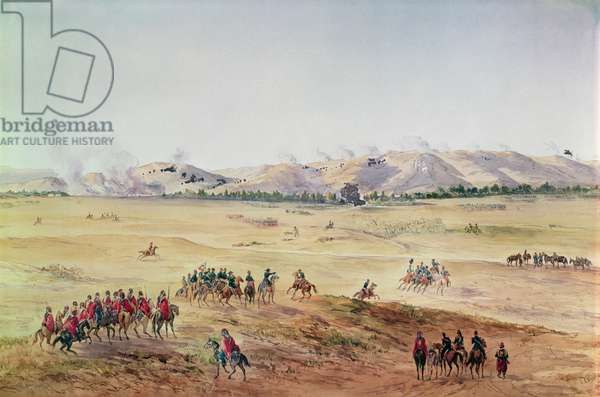 The Battle of Alma, 20th September 1854 (colour litho)