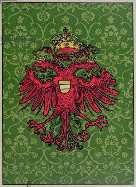 The two-headed eagle of Maximilian I (1459-1519) (colour litho)
