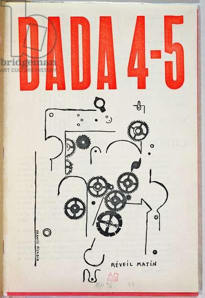 'Dada 4-5', cover of magazine (colour litho)
