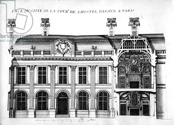 The Hotel d'Avaux, rue du Temple, Paris (litho)