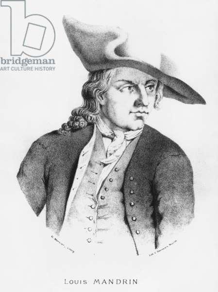 Louis Mandrin (1724-55) (litho) (b/w photo)