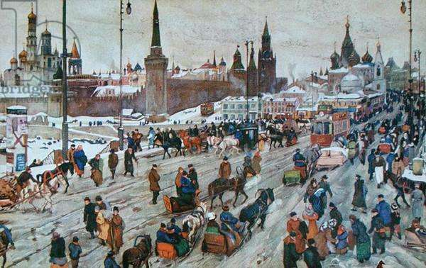 Postcard of Moscow, before 1914 (colour litho)