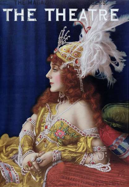 Cover of 'The Theatre' featuring Gertrude Hoffmann, August 1911 (colour litho)