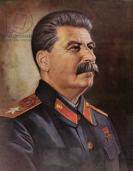 Portrait of Joseph Stalin (1879-1953) c.1945-50 (chromolitho)