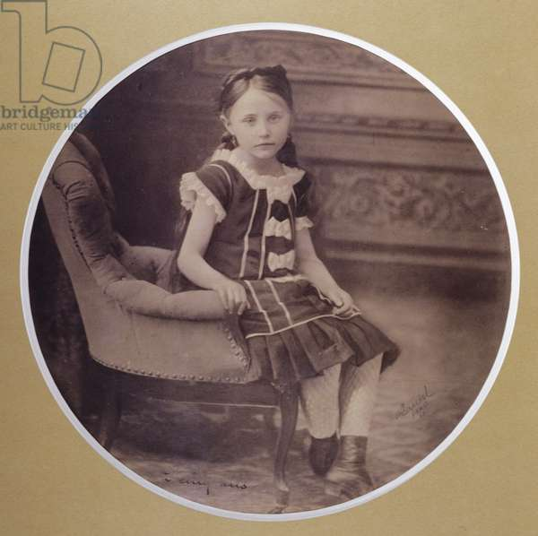 Colette at the age of 5, 1878 (b/w photo)
