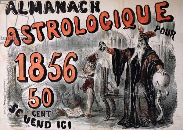 Astrological Almanac, 1856 (colour litho)