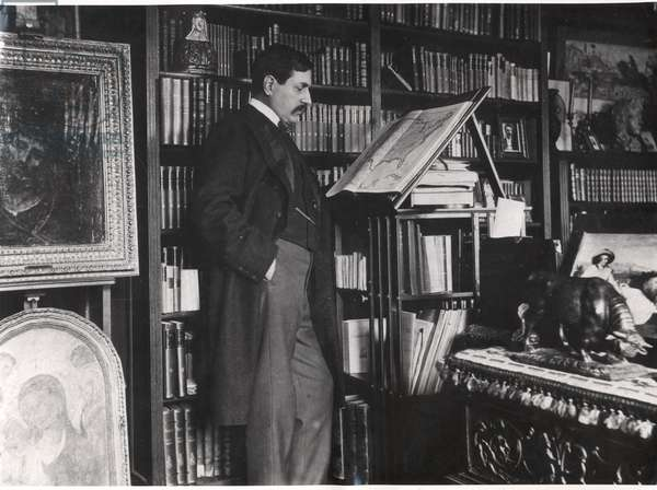 Maurice Barres (1862-1923) (b/w photo)