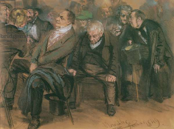 Bourgeois Germans in a Public Meeting, 1849 (pastel on paper)