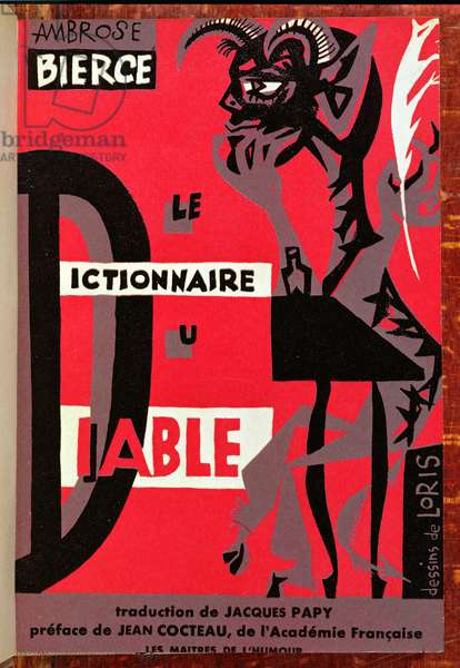 Front cover of 'The Devil's Dictionary' by Ambrose Bierce (1842-c.1914) 1954 (colour litho)