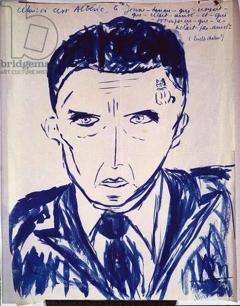 Portrait of Alberic (w/c on paper)