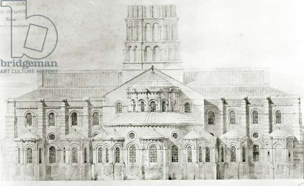 Basilica of St. Sernin, Toulouse (pencil & w/c on paper)