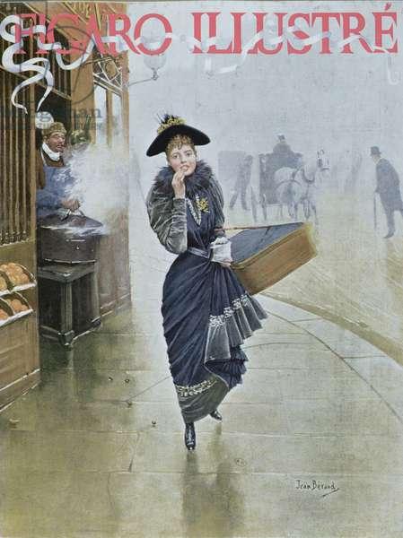 Young Parisian hatmaker, cover illustration of 'Figaro Illustre', February 1892 (colour litho)