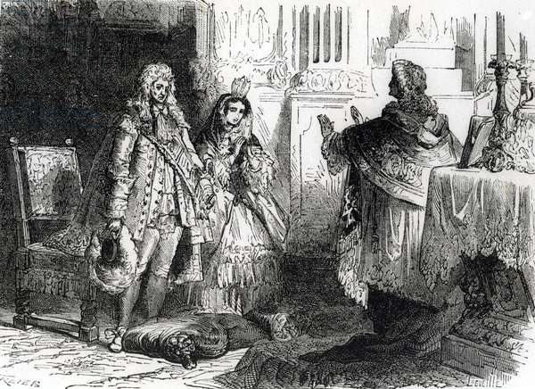 Marriage of Louis XIV and Madame de Maintenon (engraving)