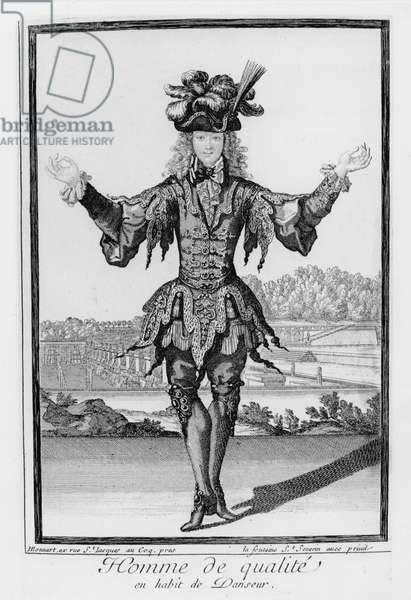Man of quality, dressed as a dancer (engraving)