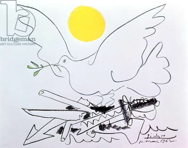 The Dove of Peace (ink and watercolour)