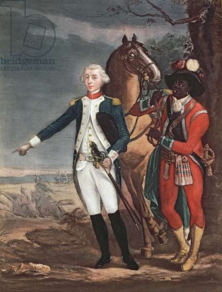 Portrait of the Marquis de La Fayette with an Aide-de-Camp during the American War of Independence (oil on canvas)