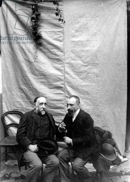 Degas with Chausson (b/w photo)