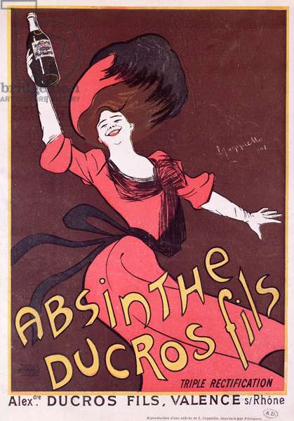Advertisement for 'Absinthe Ducros fils', 1901 (colour litho)