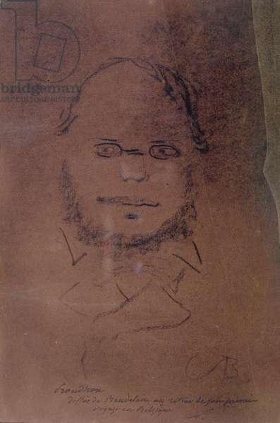 Pierre Joseph Proud'hon (1809-85) 1865 (charcoal on paper)