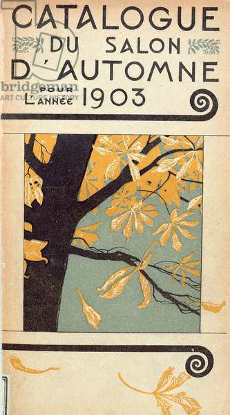 Cover of the Catalogue of the inaugural Salon d'Automne at the Grand Palais, Paris, 1903 (colour litho)