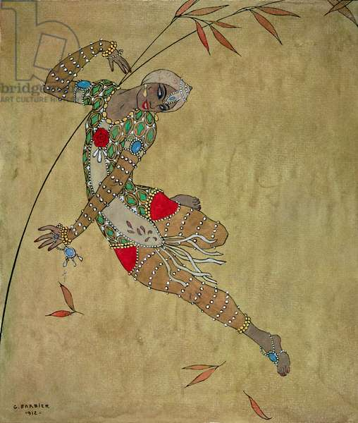 Nijinsky in 'Le Festin/ L'Oiseau d'Or', 1912 (w/c on paper)