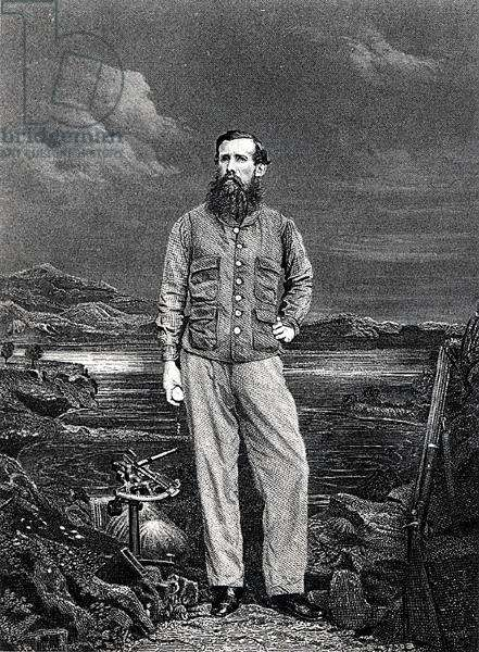 John Hanning Speke, frontispiece for his book 'Journal of the Discovery of the source of the Nile', published 1863 (engraving) (b/w photo)
