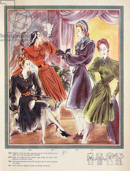 Fashion in 1946 (colour litho)
