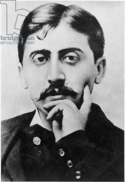 Portrait of Marcel Proust (1871-1922) 1900 (b/w photo)