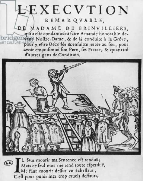 Execution of the Marquise de Brinvilliers, 1676 (engraving)