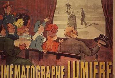 Poster advertising the 'Cinematographe Lumiere', 1896 (colour litho)