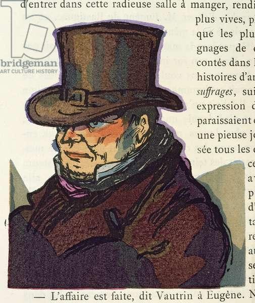 'Vautrin', illustration for 'Le Pere Goriot', by Honore de Balzac, 1922 (colour litho)