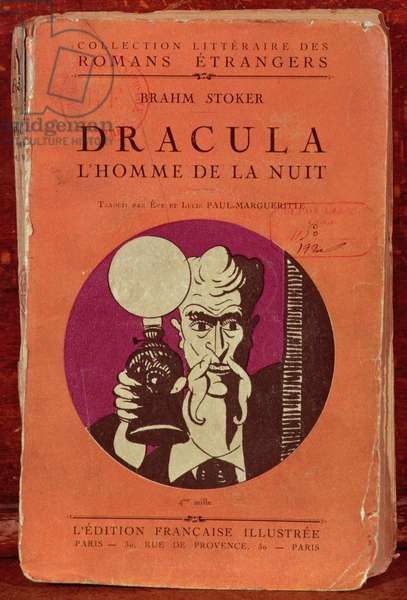 Front cover of 'Dracula' by Bram Stoker (1847-1912) 1920 (litho)