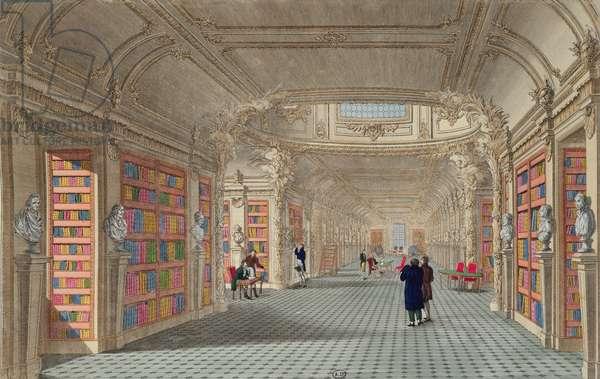 Bibliotheque du Pantheon, c.1800 (colour engraving)