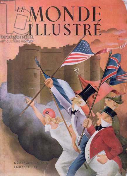 'Let us Free Peace from Prison', cover of 'Le Monde Illustree' magazine, 13th July 1946 (colour litho)