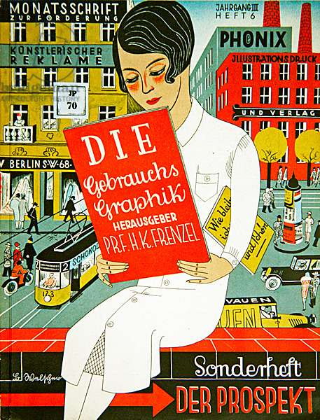 Cover of 'Gebrauchsgraphik', 1926 (colour lithograph)