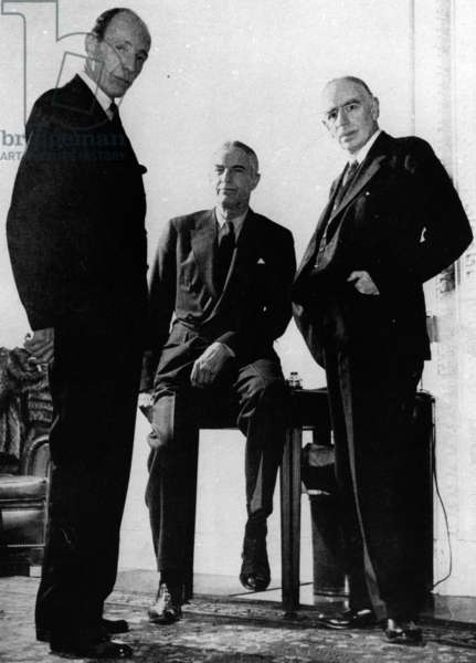 Lord Halifax, Will Clayton and Maynard Keynes, c.1943 )photo)