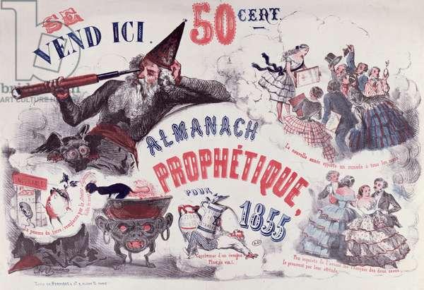 Cover of a Prophetic Almanac depicting Nostradamus, 1855 (lithograph)