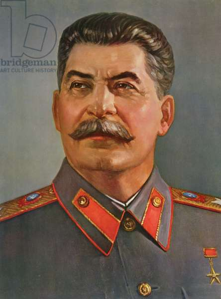 Portrait of Joseph Stalin (1879-1953) 1970 (colour litho)