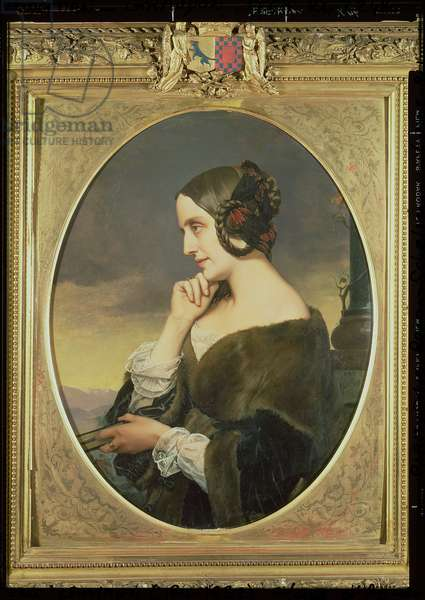 Portrait of the Countess Marie d'Agoult, 1843 (oil on canvas)