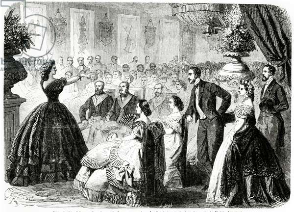 Charity Fête at the Masonic Lodge of Persevering Friendship, Grand Orient of France, Paris, 1862 (engraving)
