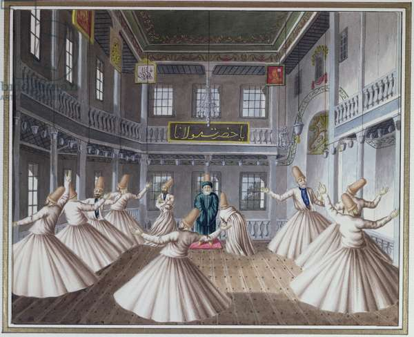 Whirling Dervishes (w/c on paper)
