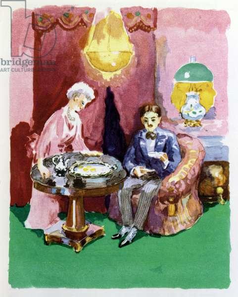 The Madeleine, illustration for 'A la Recherche du Temps Perdu' by Marcel Proust (1871-1922) 1947 (colour litho)