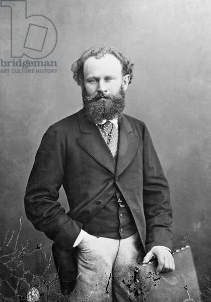 Portrait of Edouard Manet , 1874 (b/w photo)