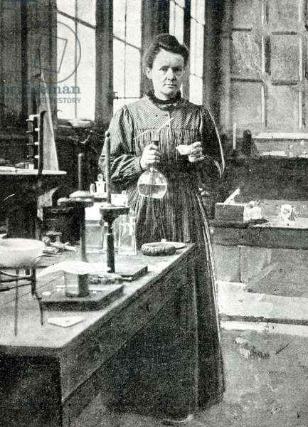 Portrait of Marie Curie (1867-1934) 1907 (b/w photo)