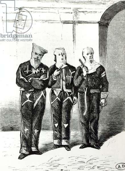 Mississippi Ku Klux Klan, 1892 (engraving) (b/w photo)