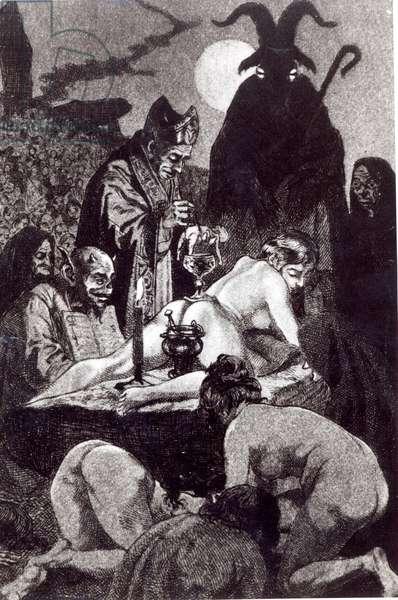 'A Black Mass', 1911 (litho)